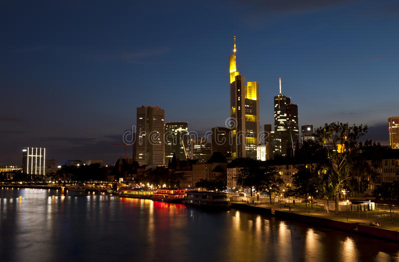Download Frankfurt Am Main In Night Lights Stock Photo - Image: 25989860