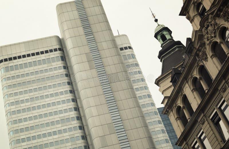 Frankfurt am Main skyline central district. stock photos
