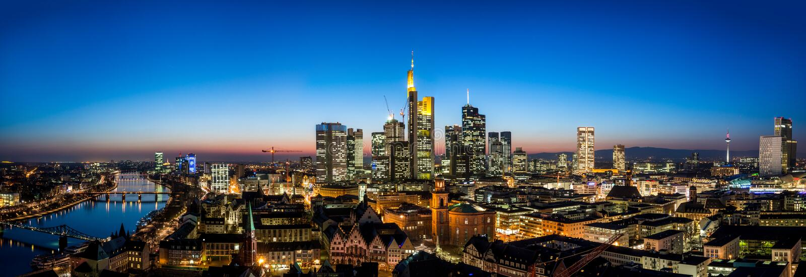 Frankfurt am Main Skyline royalty free stock photos