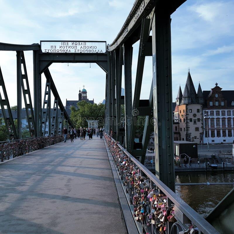 frankfurt most obrazy royalty free