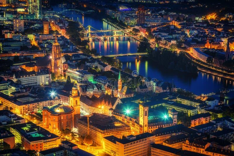 Frankfurt nachts stockfoto