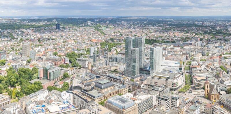 Frankfurt Niemcy widok z lotu ptaka obraz stock