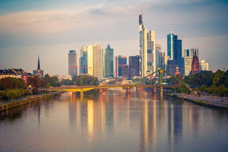 Frankfurt przy ranek obrazy royalty free