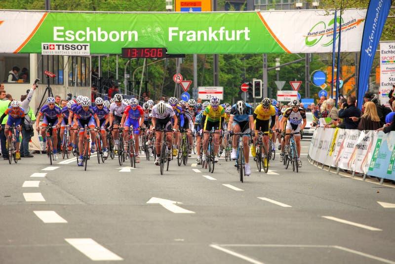 Frankfurt-Radfahren stockfoto