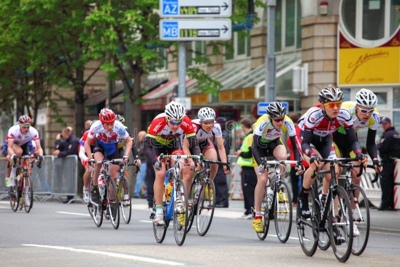 Frankfurt-Radfahrenrennen lizenzfreie stockfotos