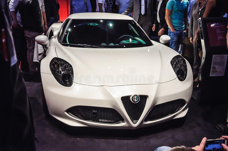 FRANKFURT - SEPT 21: ALFA ROMEO 4C presented as world premiere a royalty free stock images