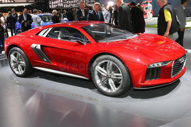 FRANKFURT - SEPT 10: Begrepp för Audi nanukquattro som visas på 65ten arkivfoto