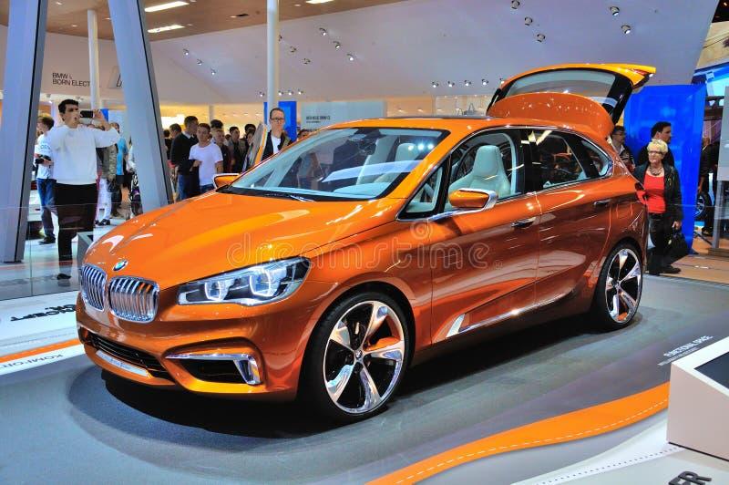 FRANKFURT - SEPT 14: BMW Concept Active Tourer Outdoor presented stock photos