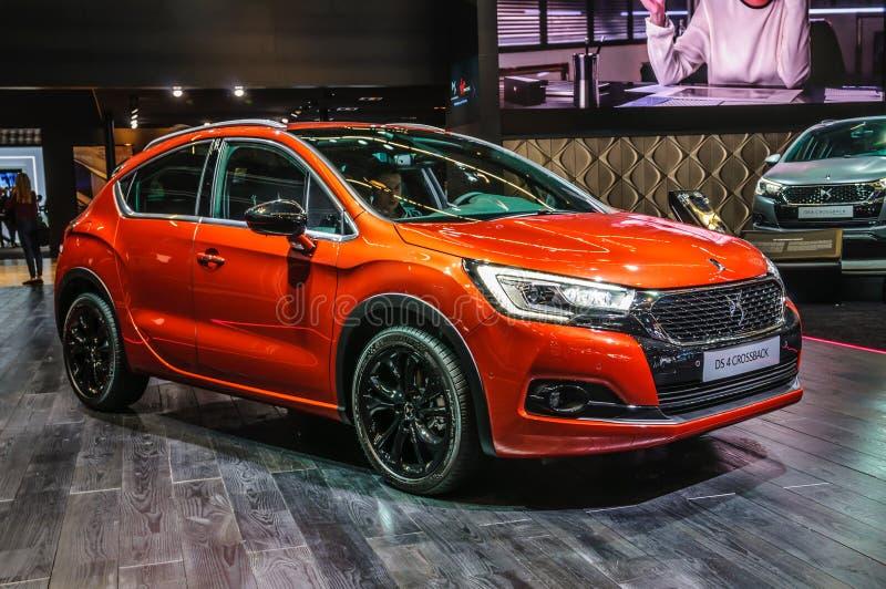 FRANKFURT - SEPT. 2015: Citroën DS 4 Crossback bij IAA I wordt voorgesteld die stock foto