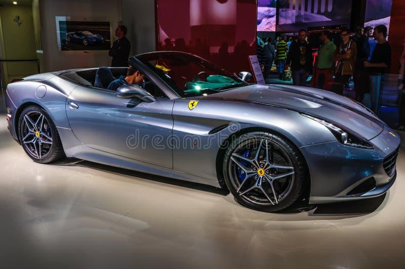 FRANKFURT - SEPT 2015: Ferrari California T presented at IAA International Motor show stock photo