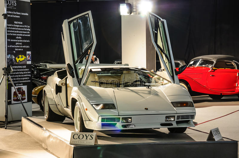FRANKFURT - SEPT 2015: Lamborghini Countach LP400 1974 presented royalty free stock photo