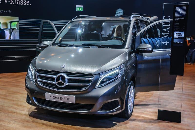FRANKFURT - SEPT 2015: Mercedes-Benz V 220 d 4MATIC presented at. IAA International Motor Show on September 20, 2015 in Frankfurt, Germany stock photography