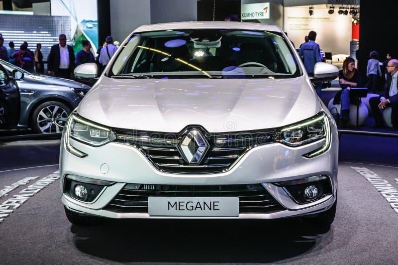 FRANKFURT - SEPT. 2015: Renault Megane stellte sich an IAA Internati dar stockfotos