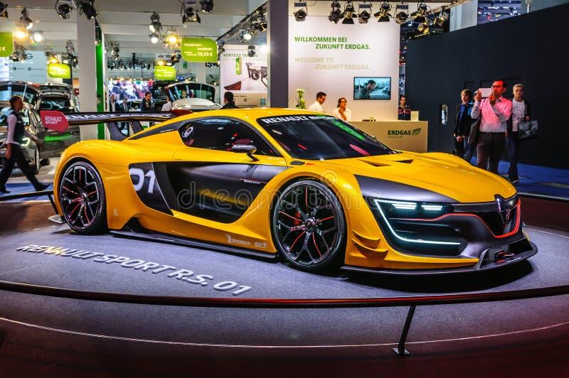 FRANKFURT - SEPT. 2015: Renault Sport R S Konzept 01 stellte a dar lizenzfreie stockfotos