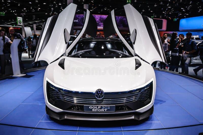 FRANKFURT - SEPT 2015: Volkswagen VW Golf sport som framläggas på IAA arkivbild