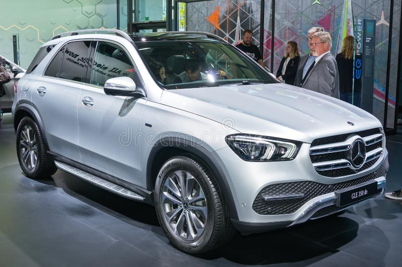 Mercedes-Benz GLE 350 de. Frankfurt-September 19:  Mercedes-Benz GLE 350 de at the Frankfurt International Motor Show on September 19, 2019 in Frankfurt, Germany stock image