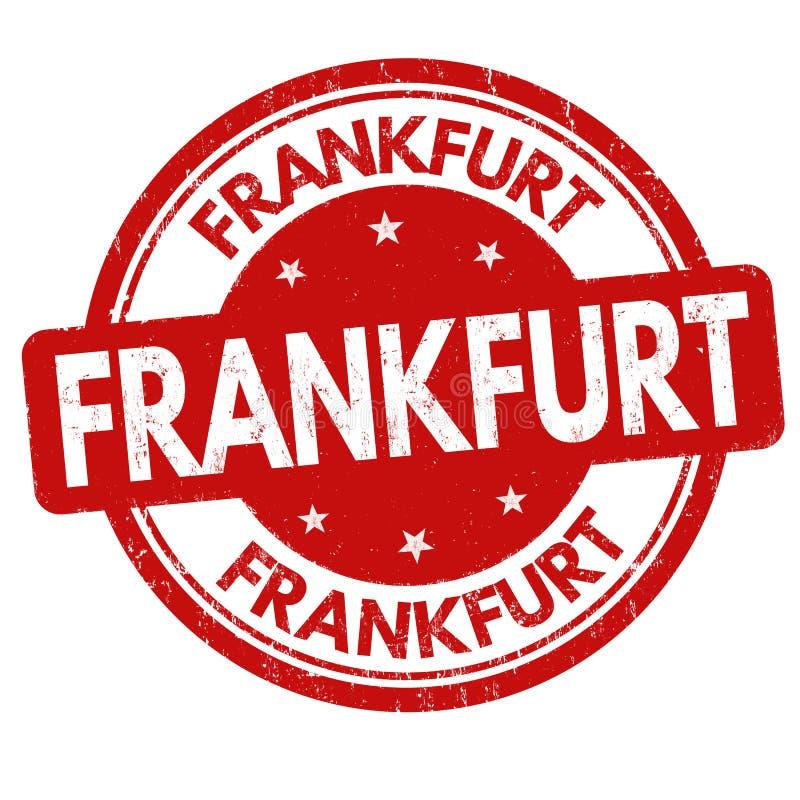 Frankfurt sign or stamp. On white background, vector illustration royalty free illustration
