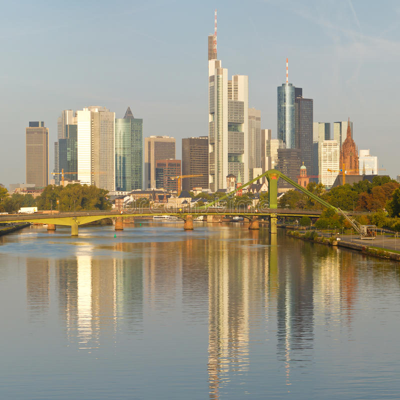 Download Frankfurt Skyline And Financial District Stock Photo - Image: 21382540