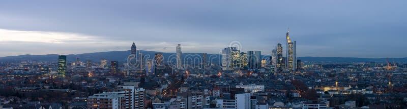 Frankfurt Skyline Panorama stock photos