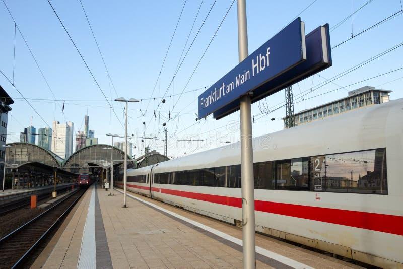 Frankfurt stacja zdjęcie stock