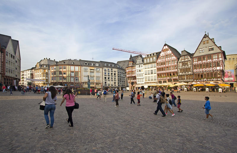 Download Frankfurt stadfyrkant redaktionell bild. Bild av germany - 37348096
