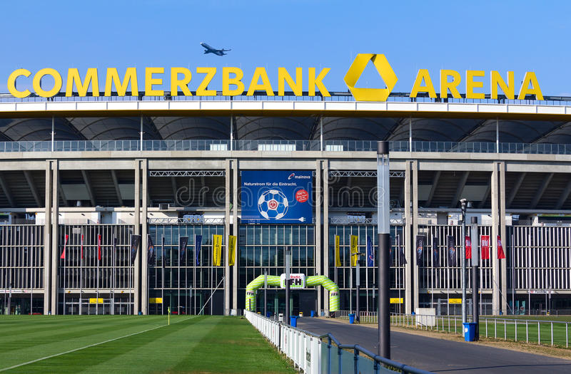 Frankfurt Stadium Commerzbank Arena royalty free stock image