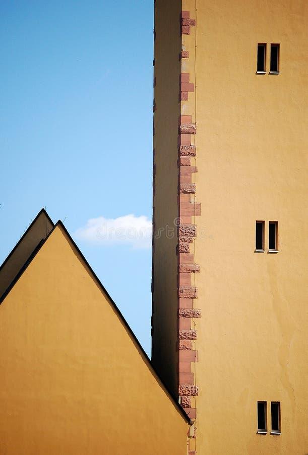 Frankfurt stare budynki zdjęcia royalty free