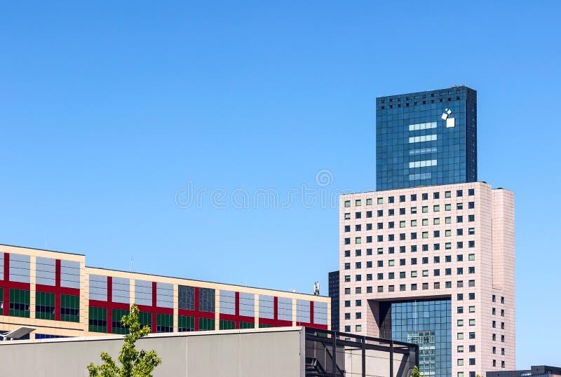 Frankfurt targ handlowy budynku wierza zdjęcia royalty free