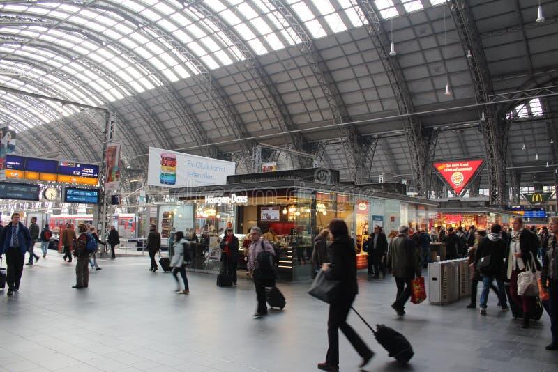 Frankfurt Train Station royalty free stock images