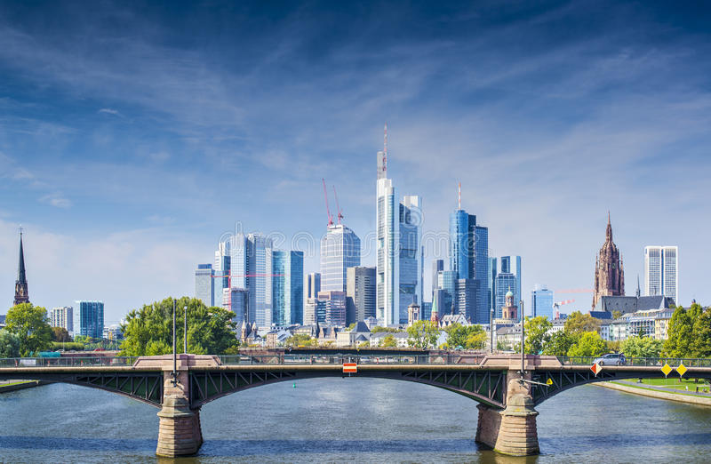 Frankfurt Tyskland arkivfoton