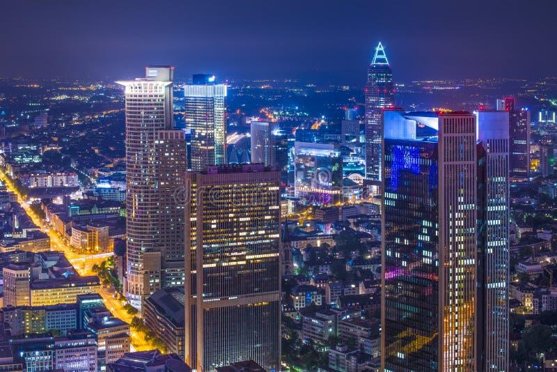 Frankfurt TysklandCityscape royaltyfri fotografi