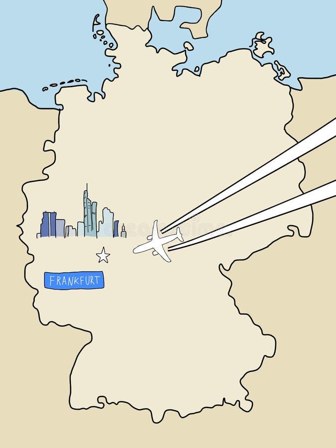 Frankfurt vector illustration