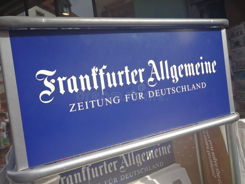 Frankfurter Allgemeine Zeitung tecken royaltyfria bilder