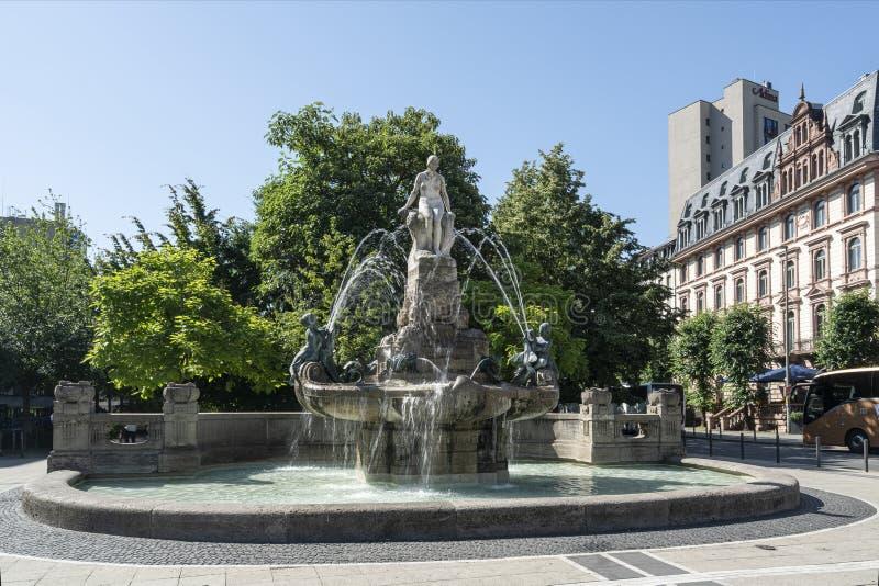 Frankfurter Märchenbrunnen stockbilder