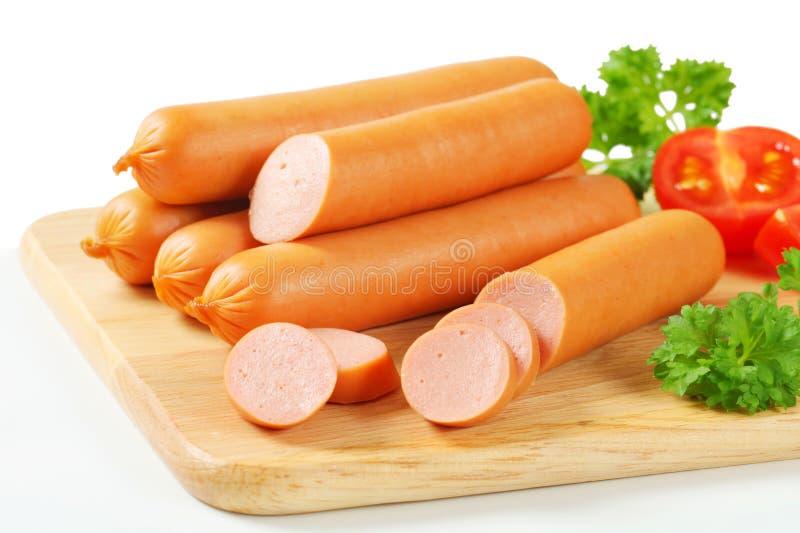 Frankfurter sausages stock photography