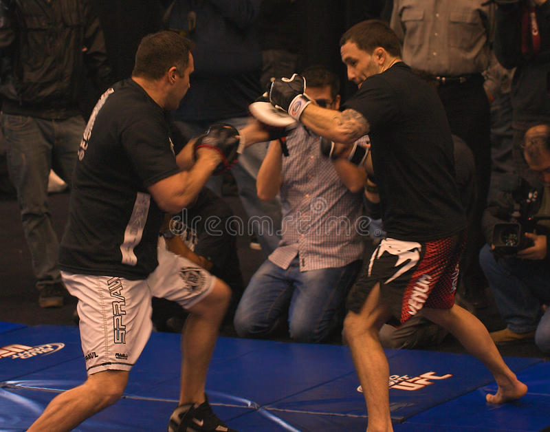 Frankie Edgar UFC 125 at MGM workout 12/30/2010 royalty free stock photo