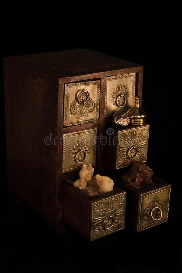 Frankincense, ouro e myrrh foto de stock royalty free