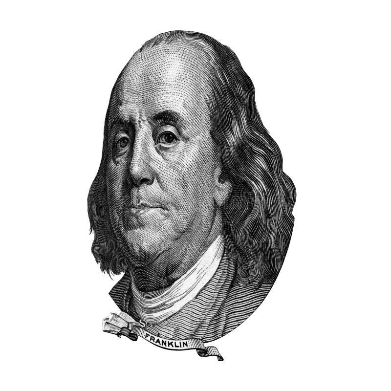 Franklin Benjamin-Porträtausschnitt stock abbildung