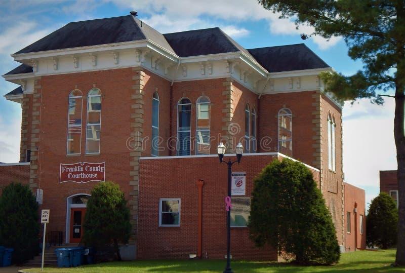 Franklin County Courthouse Benton Illinois immagini stock