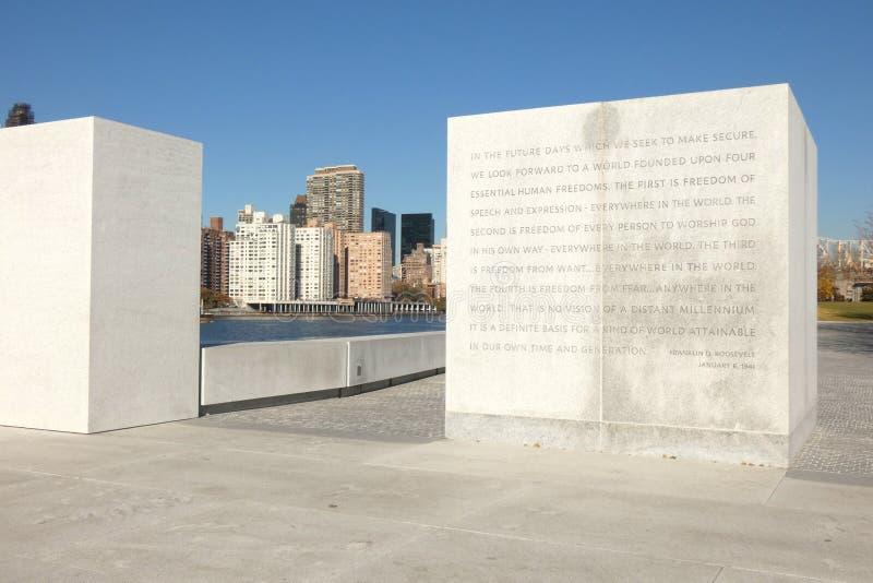 Franklin D Roosevelt Four Freedoms Park fotografía de archivo