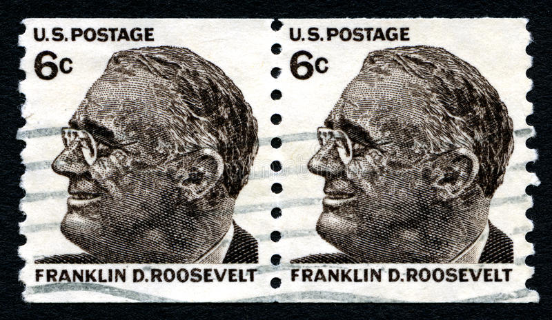 Franklin D Roosevelt USA Postage Stamp stock image