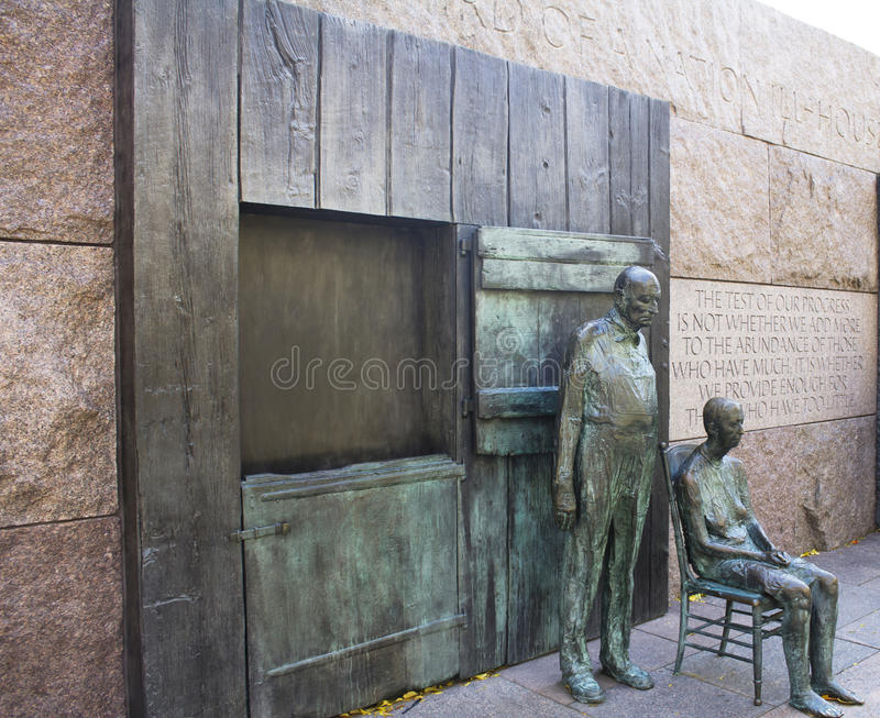 Franklin Delano Roosevelt Memorial stock images