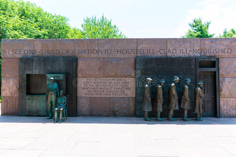 Franklin Delano Roosevelt pomnik Waszyngton zdjęcie stock