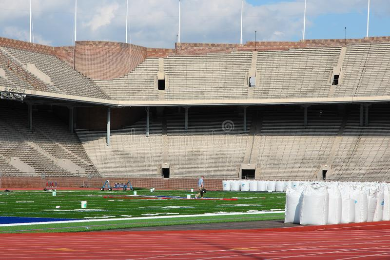Franklin Field, Philadelphia. PHILADELPHIA, USA - JUNE 11, 2013: Franklin Field stadium in Philadelphia. Franklin Field is the home of the Penn Relays team, and stock photos