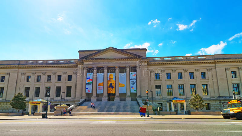 Franklin Institute in Benjamin Franklin Parkway in Philadelphia lizenzfreie stockfotos