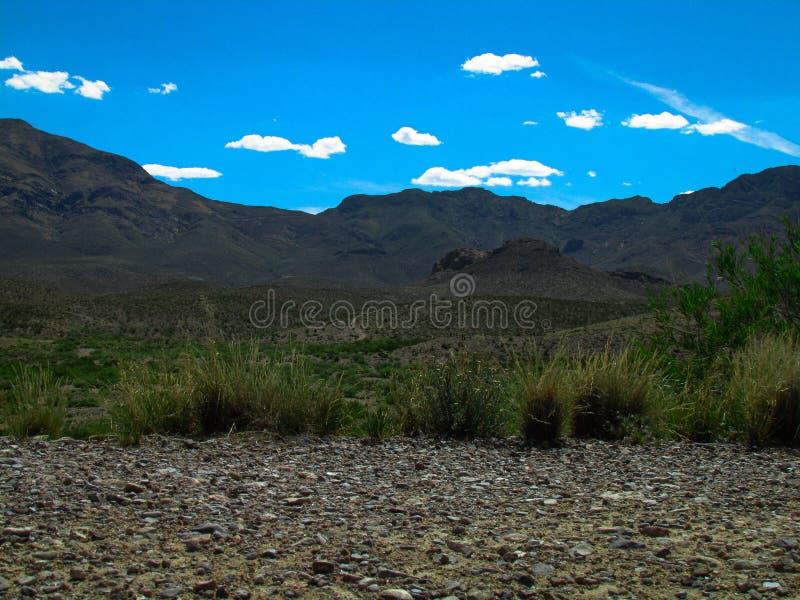 Franklin Mountains El Paso Texas lizenzfreies stockbild