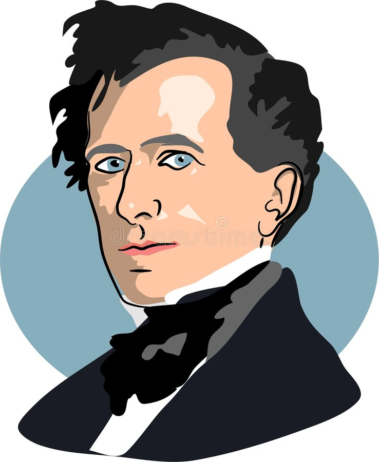 Franklin Pierce royalty free illustration