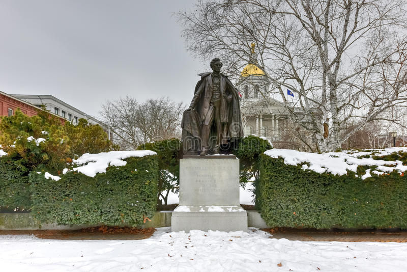 Franklin Pierce Monument stock photo