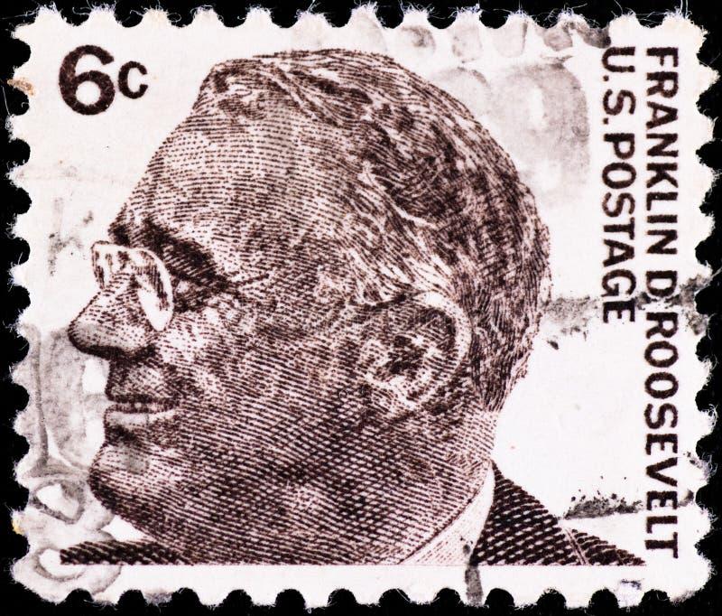 franklin portoroosevelt stämpel royaltyfri foto
