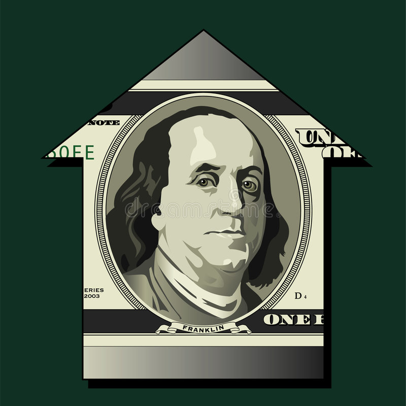 Franklin portrait on money vector illustration